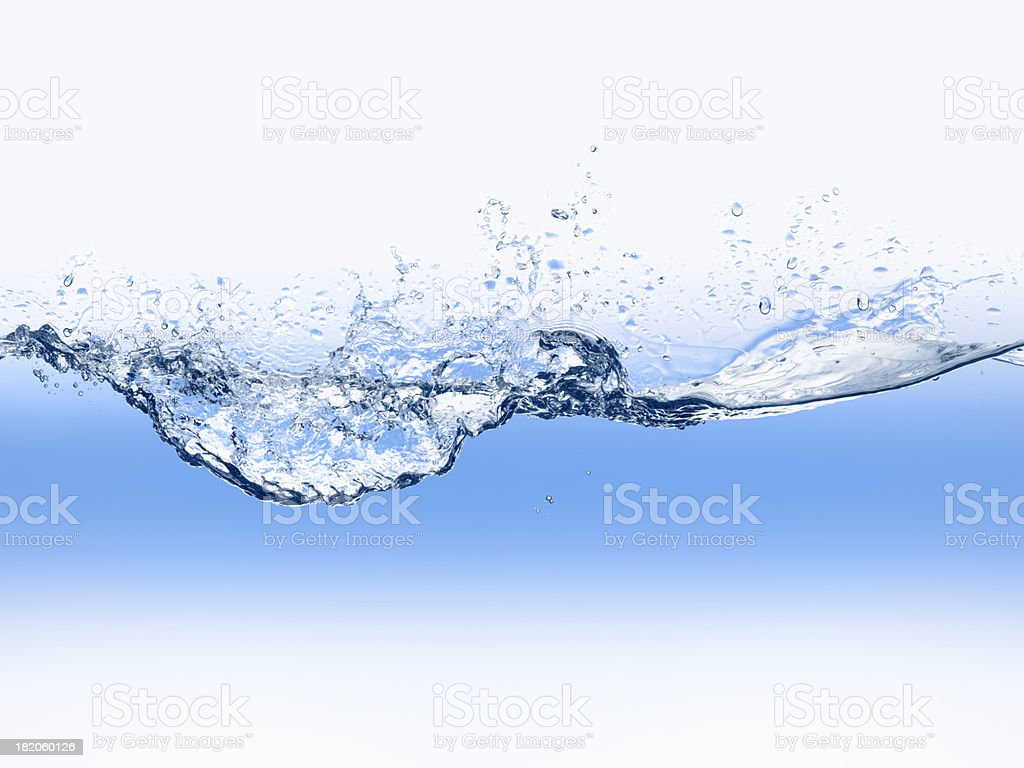 Water wave in blue stock photo