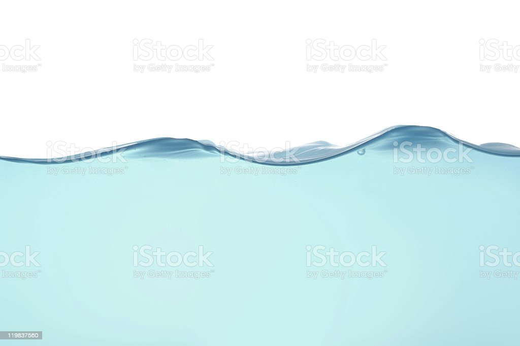 Water waves isolated royalty-free stock photo