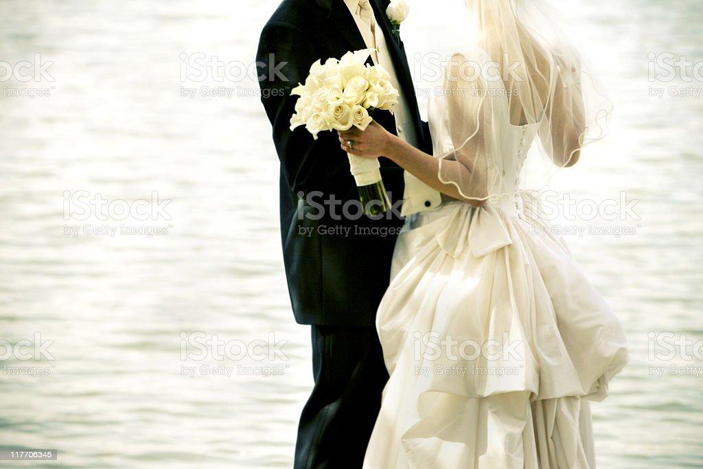water wedding portraits stock photo