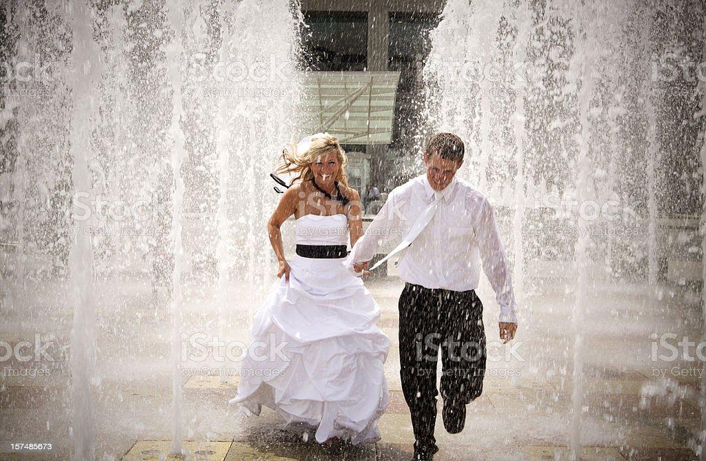 Water Wedding Portraits royalty-free stock photo
