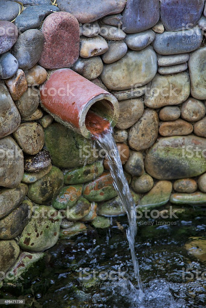 Water Well and Pipe royalty-free stock photo