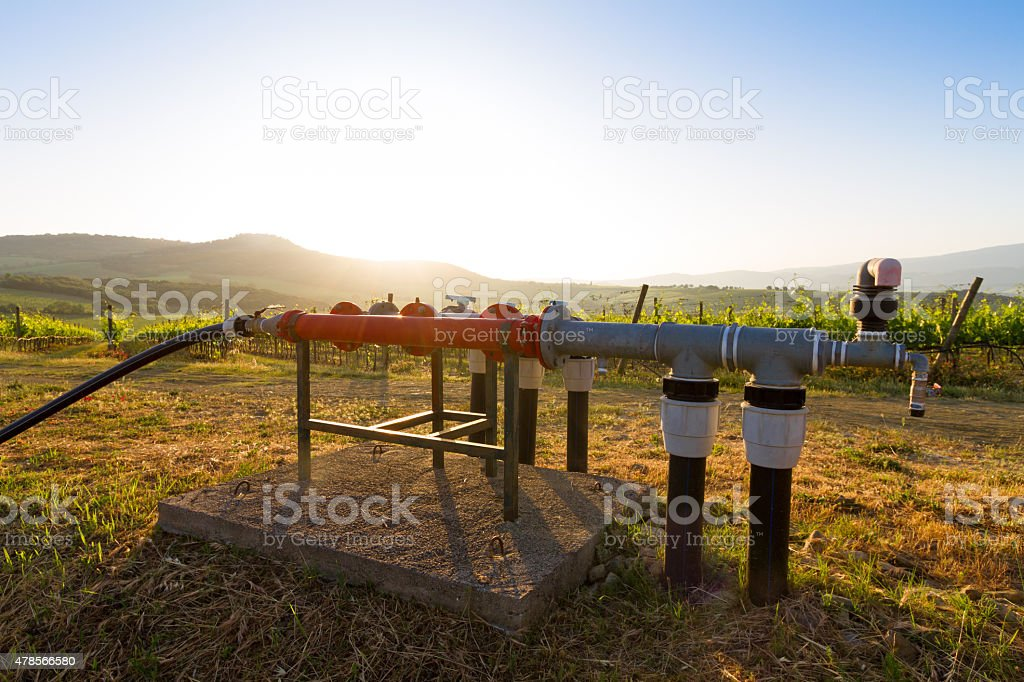 water well in Tuscany, Italy stock photo