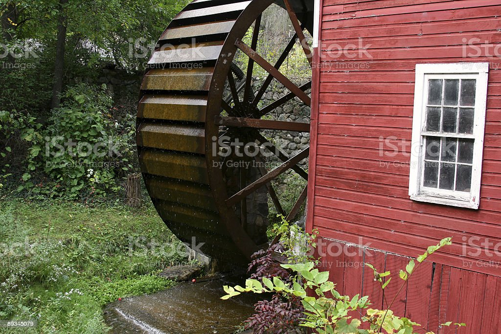 Water Wheel at an old 1800s Cider Press stock photo