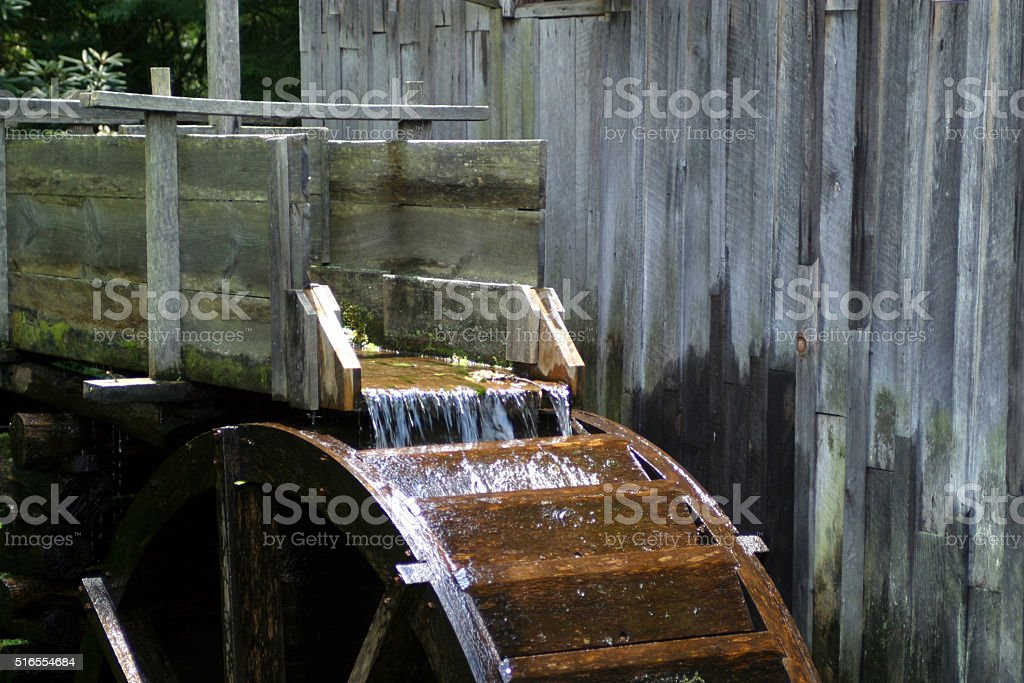 Water Wheel at Mill stock photo