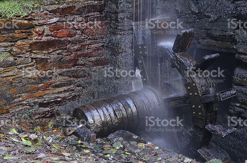 Water wheel forge. stock photo