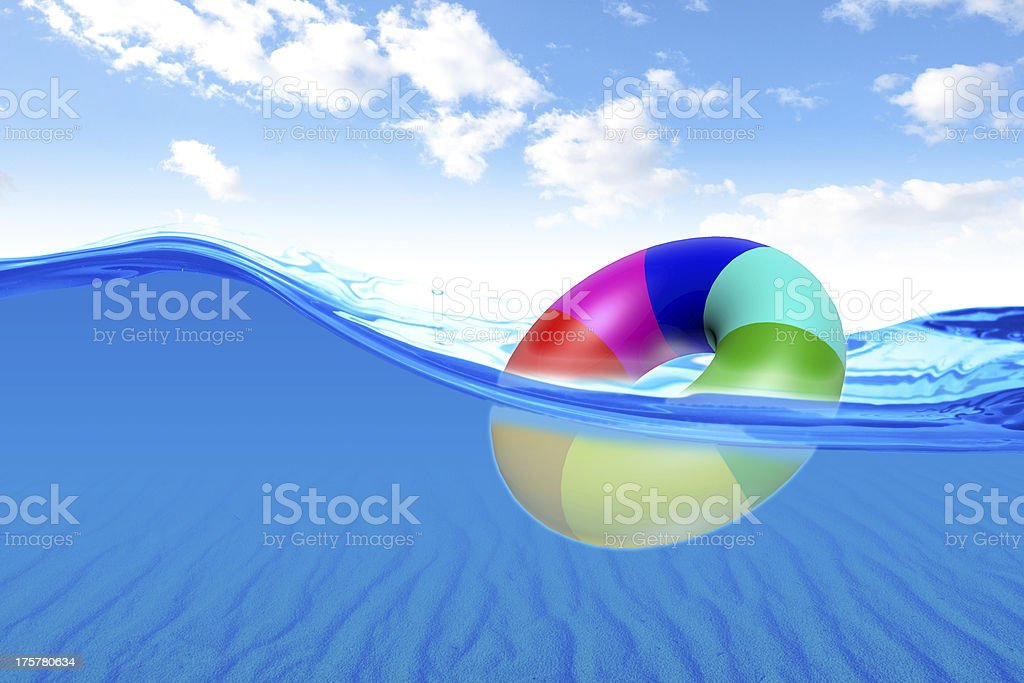 Water with balloon royalty-free stock photo