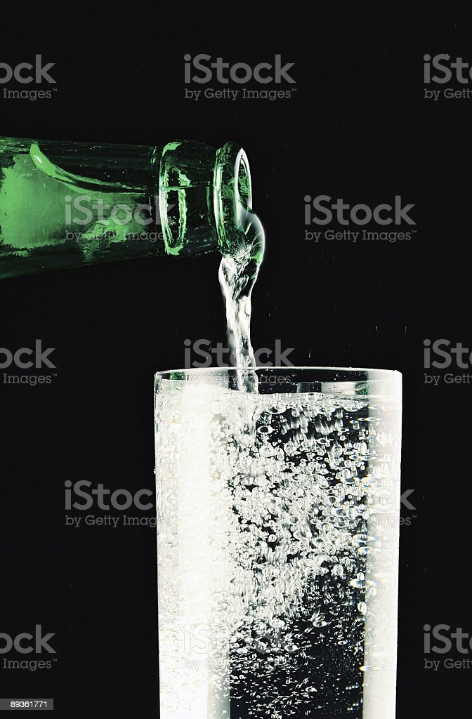 water with bubbles royalty-free stock photo