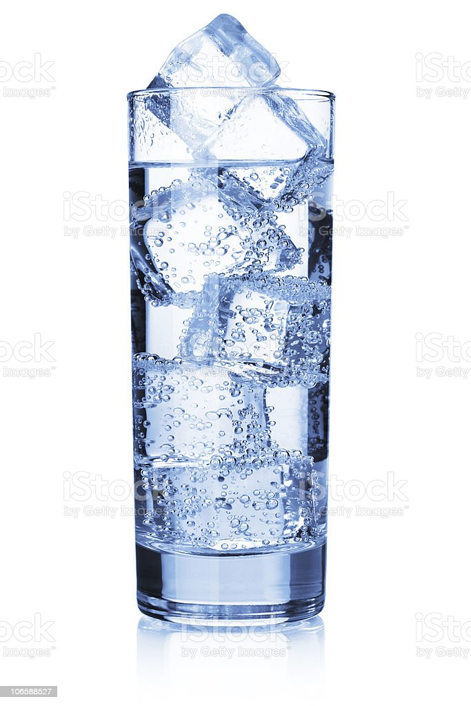 Water with ice cubes royalty-free stock photo