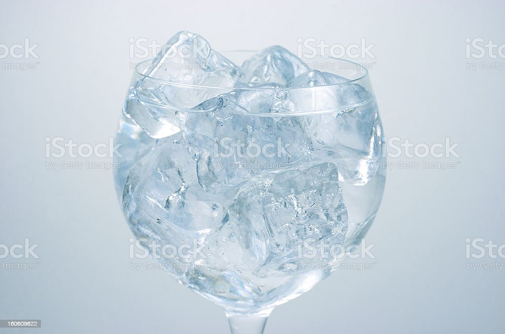 Water with ice cubes. royalty-free stock photo