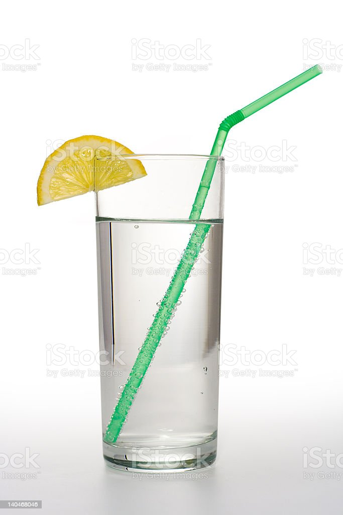 Water with lemon royalty-free stock photo