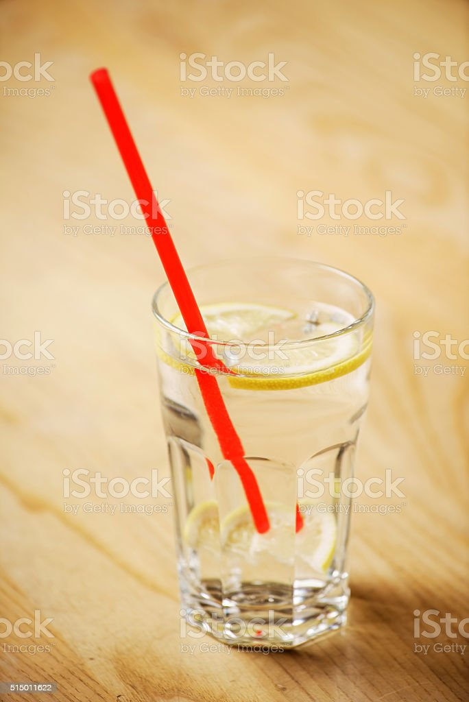 water with lemon stock photo
