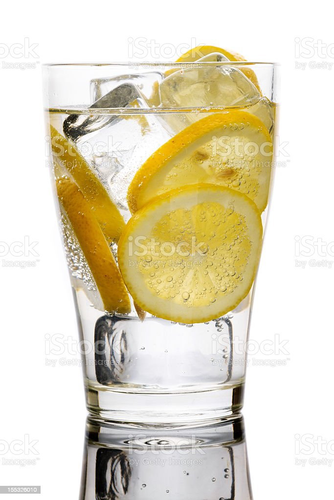 Water with lemons. royalty-free stock photo