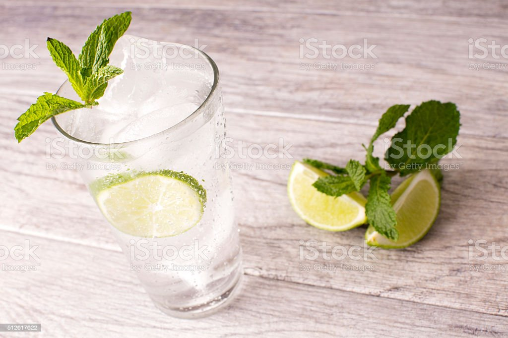 Water With Mint stock photo