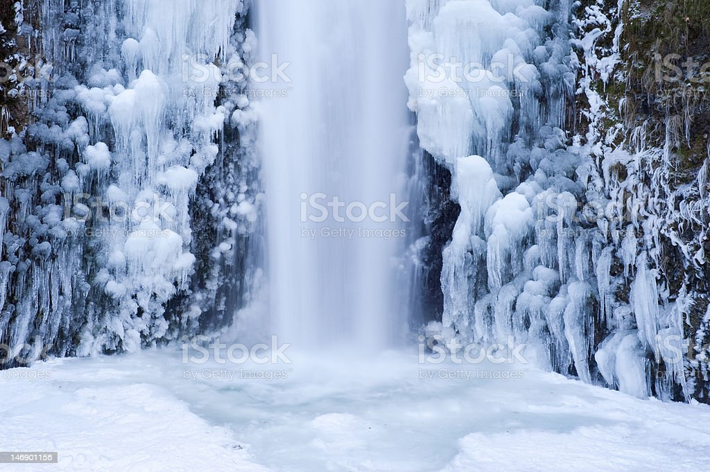 Wateralls frozen in winter royalty-free stock photo