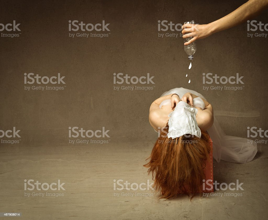 waterboarding torture stock photo