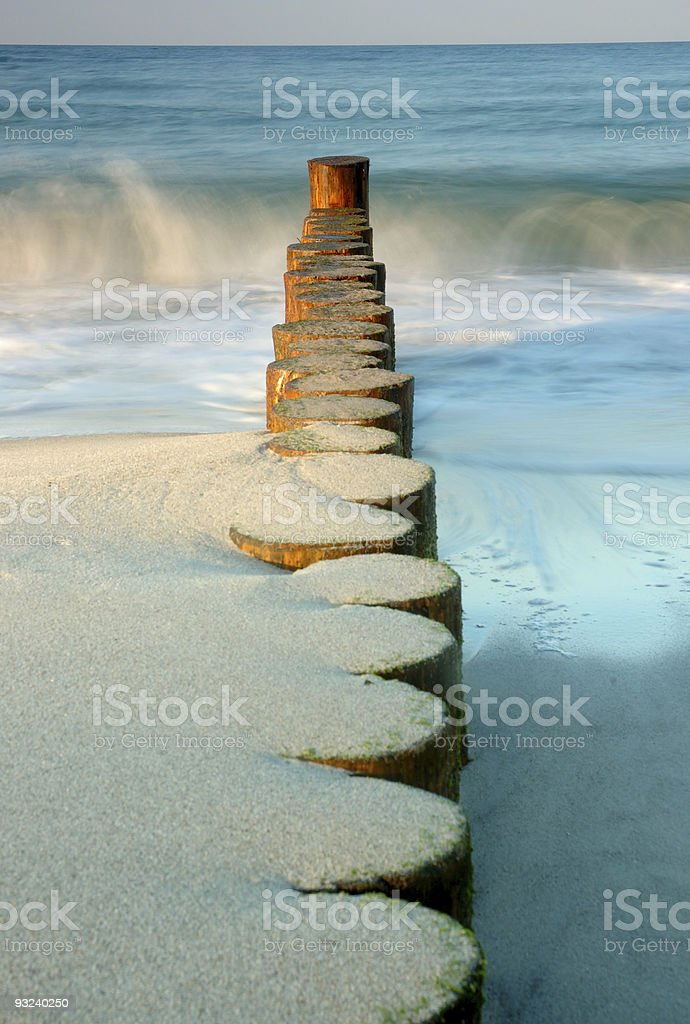 Waterbreak at the beach royalty-free stock photo