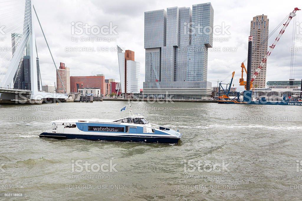 Waterbus, Rotterdam stock photo