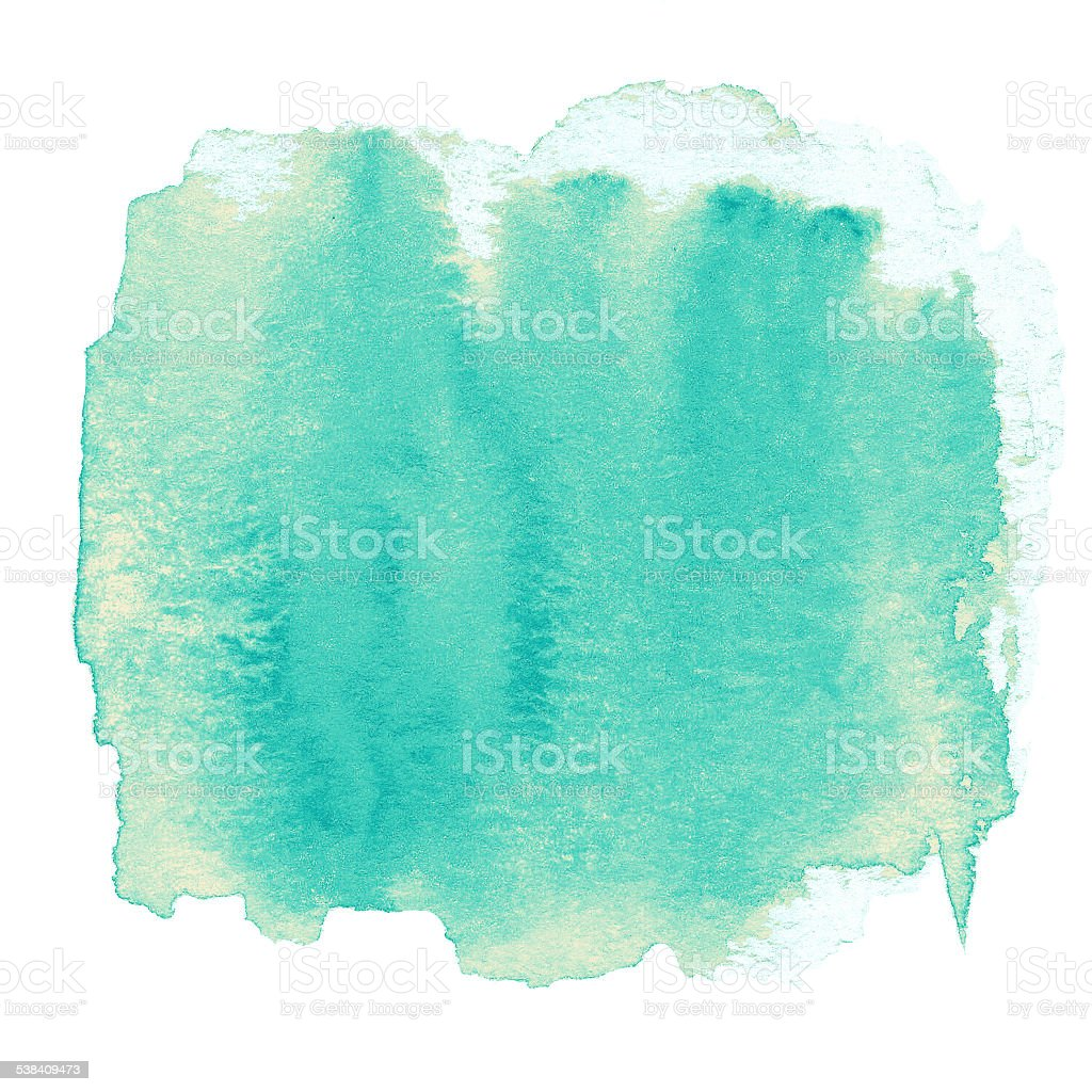 Watercolor abstract hand painted textured wet ink  spot for back stock photo