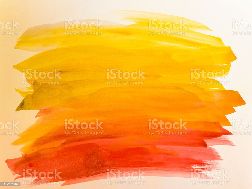 Watercolor abstract painting stock photo