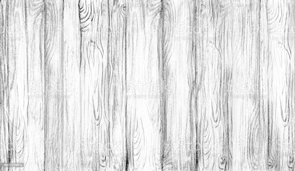 Watercolor artwork, wooden vertical planks stock photo