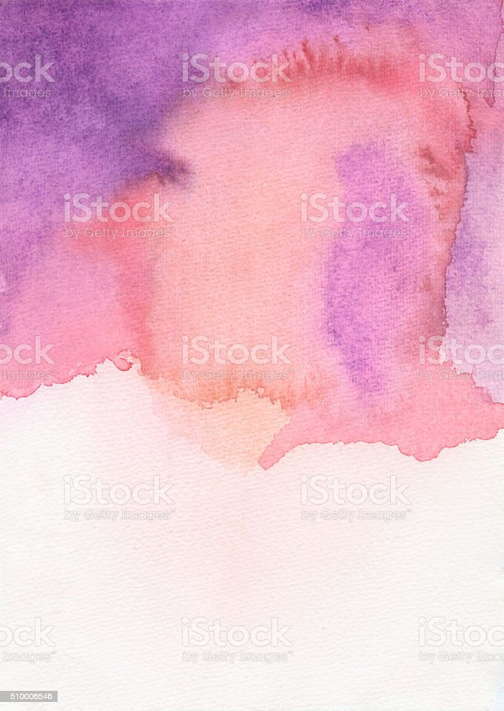 Watercolor background purple red stock photo