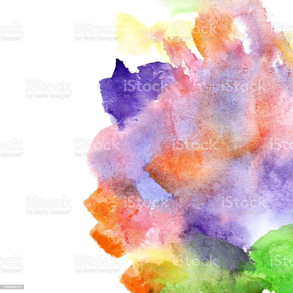 Watercolor background with copyspace stock photo
