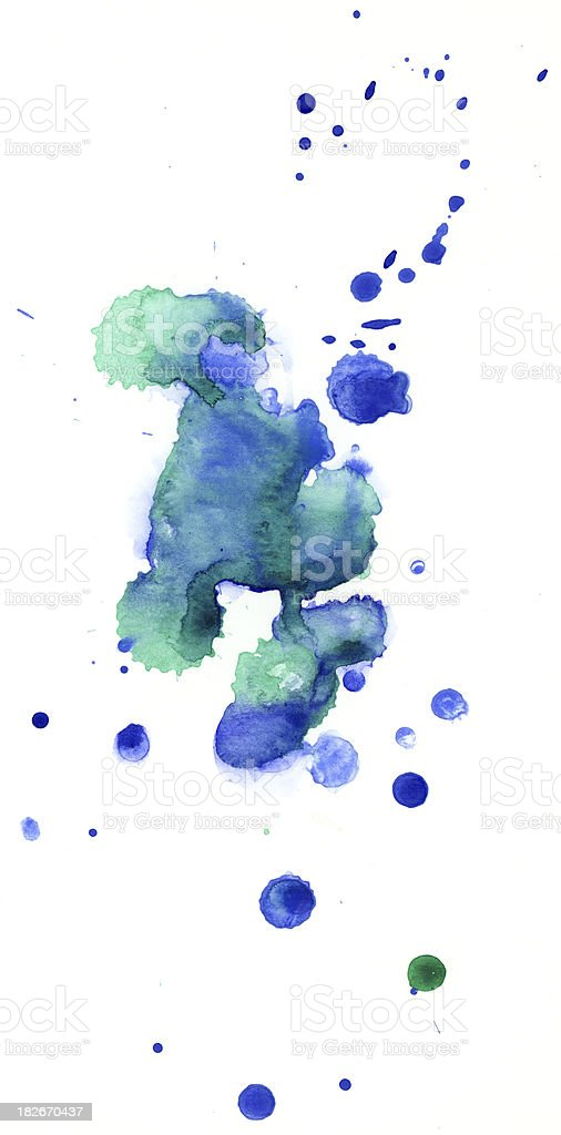 Watercolor blobs royalty-free stock photo