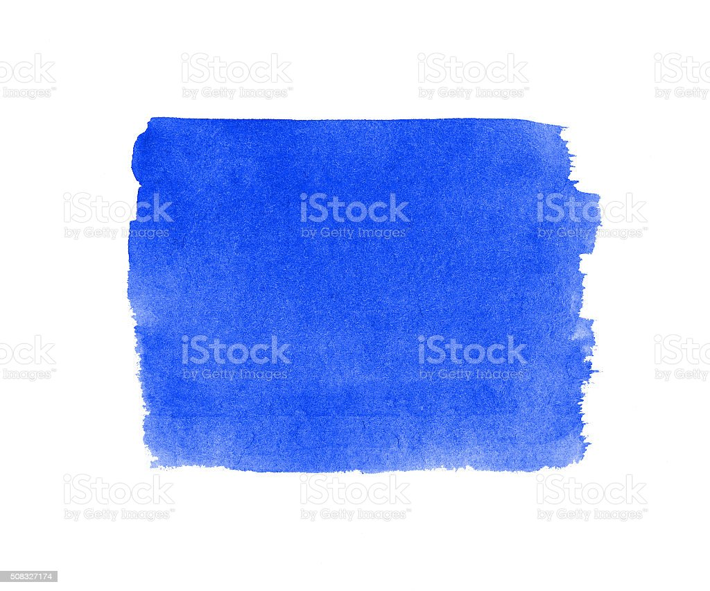 Watercolor blue  background isolated. stock photo