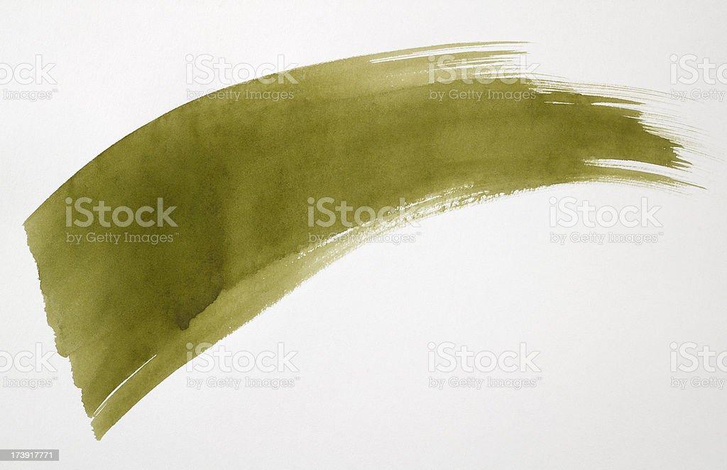 Watercolor Brush Stroke royalty-free stock photo