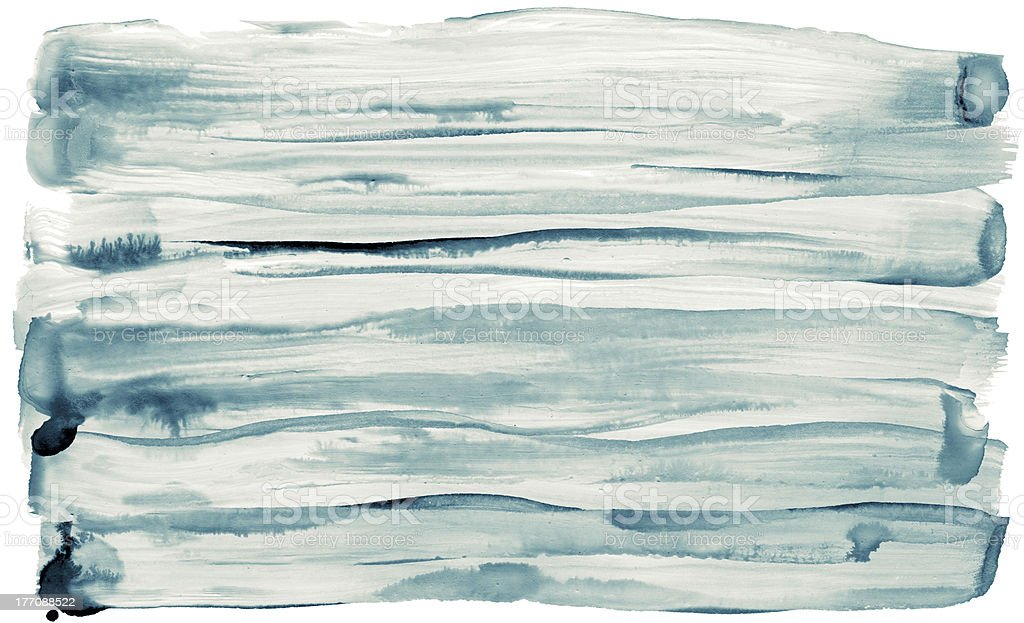 Watercolor brush strokes are isolated on a white background. royalty-free stock photo