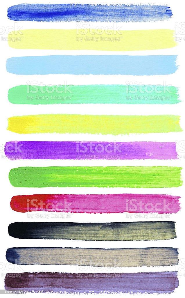 Watercolor brush strokes royalty-free stock photo