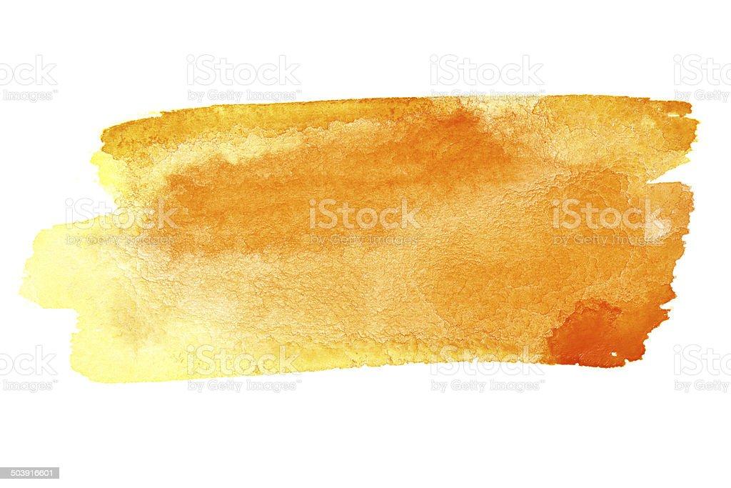 Watercolor brush strokes stock photo