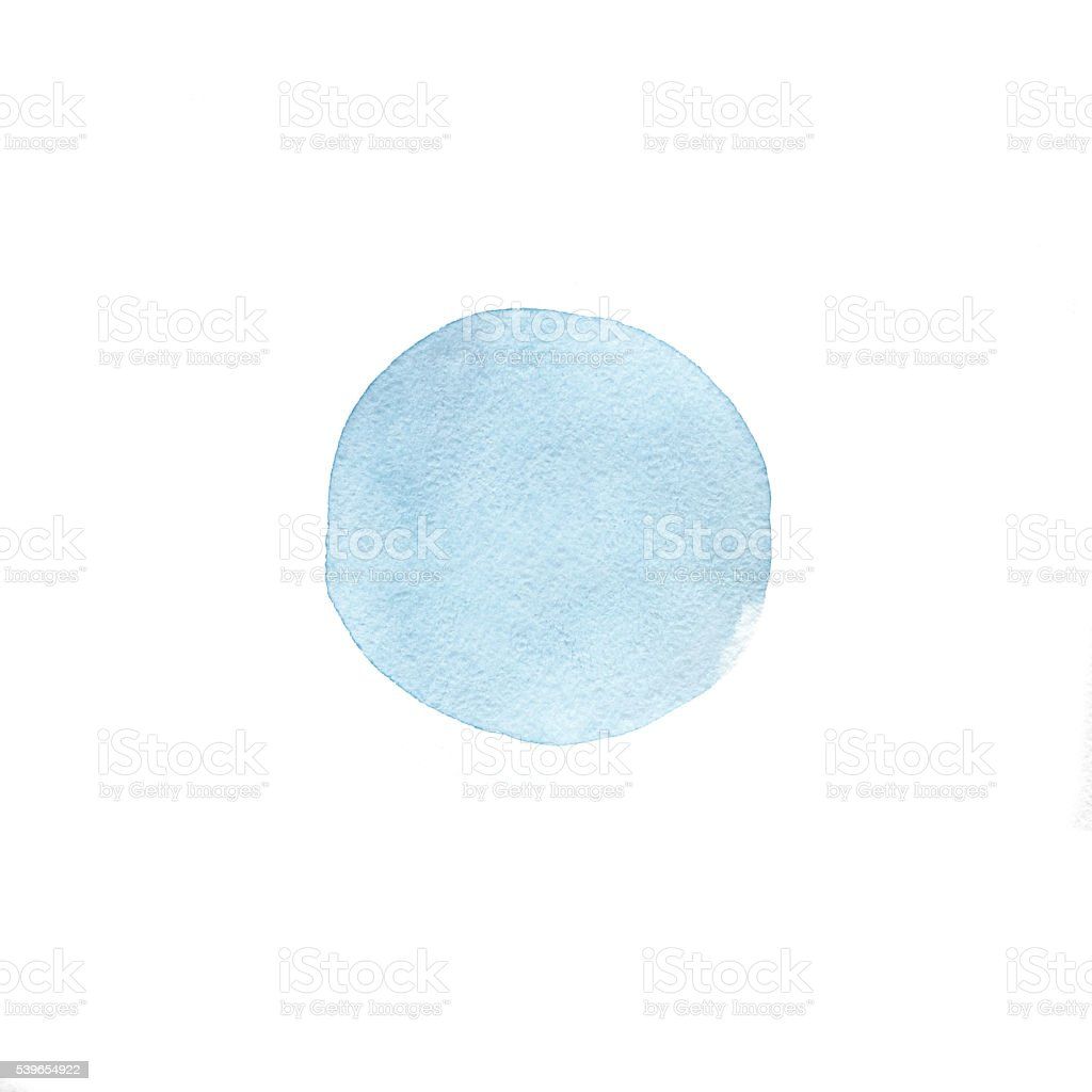 Watercolor circle isolated on white background. stock photo