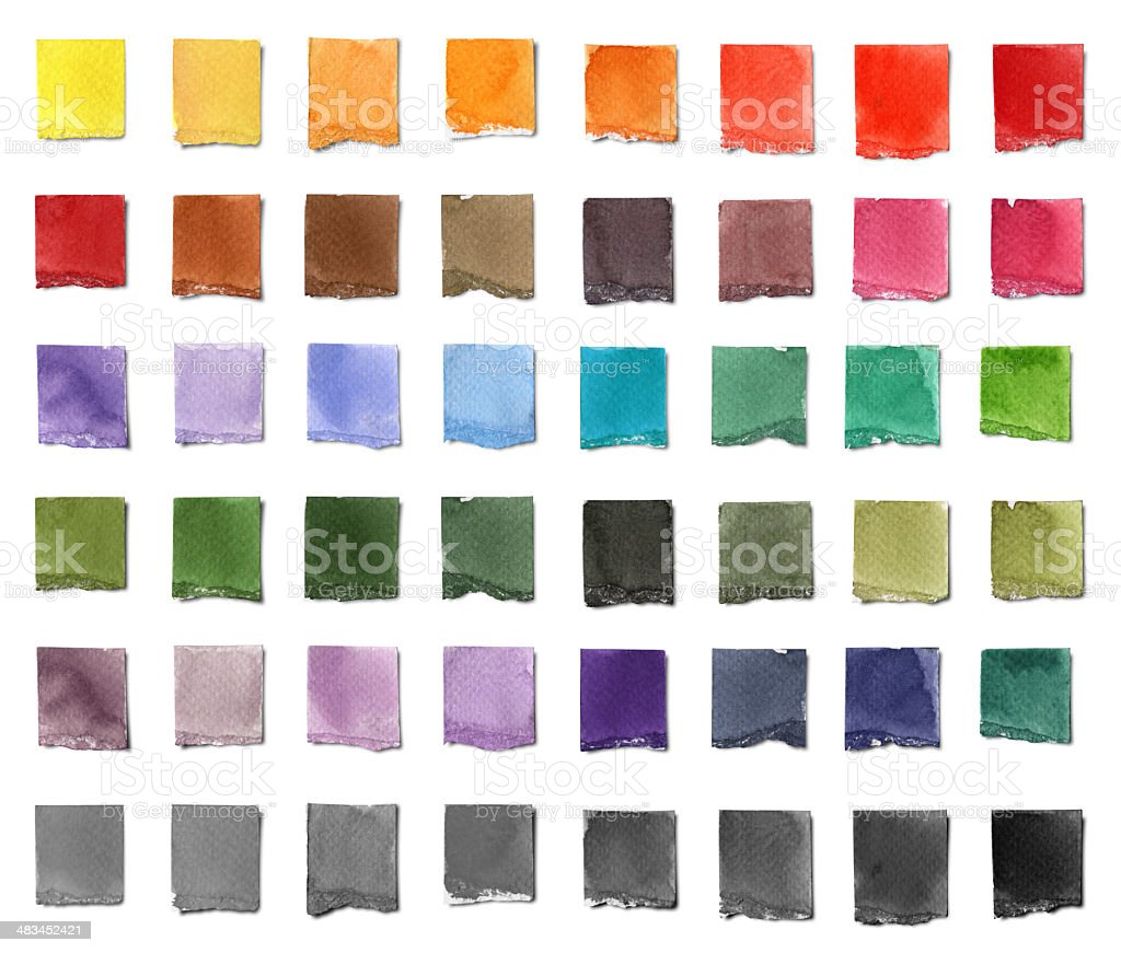 Watercolor Color Chart stock photo