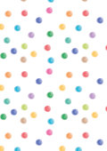 Watercolor dots colorful