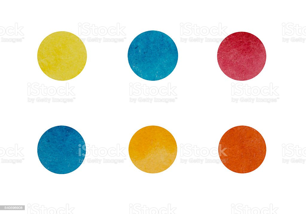 Watercolor Dots stock photo