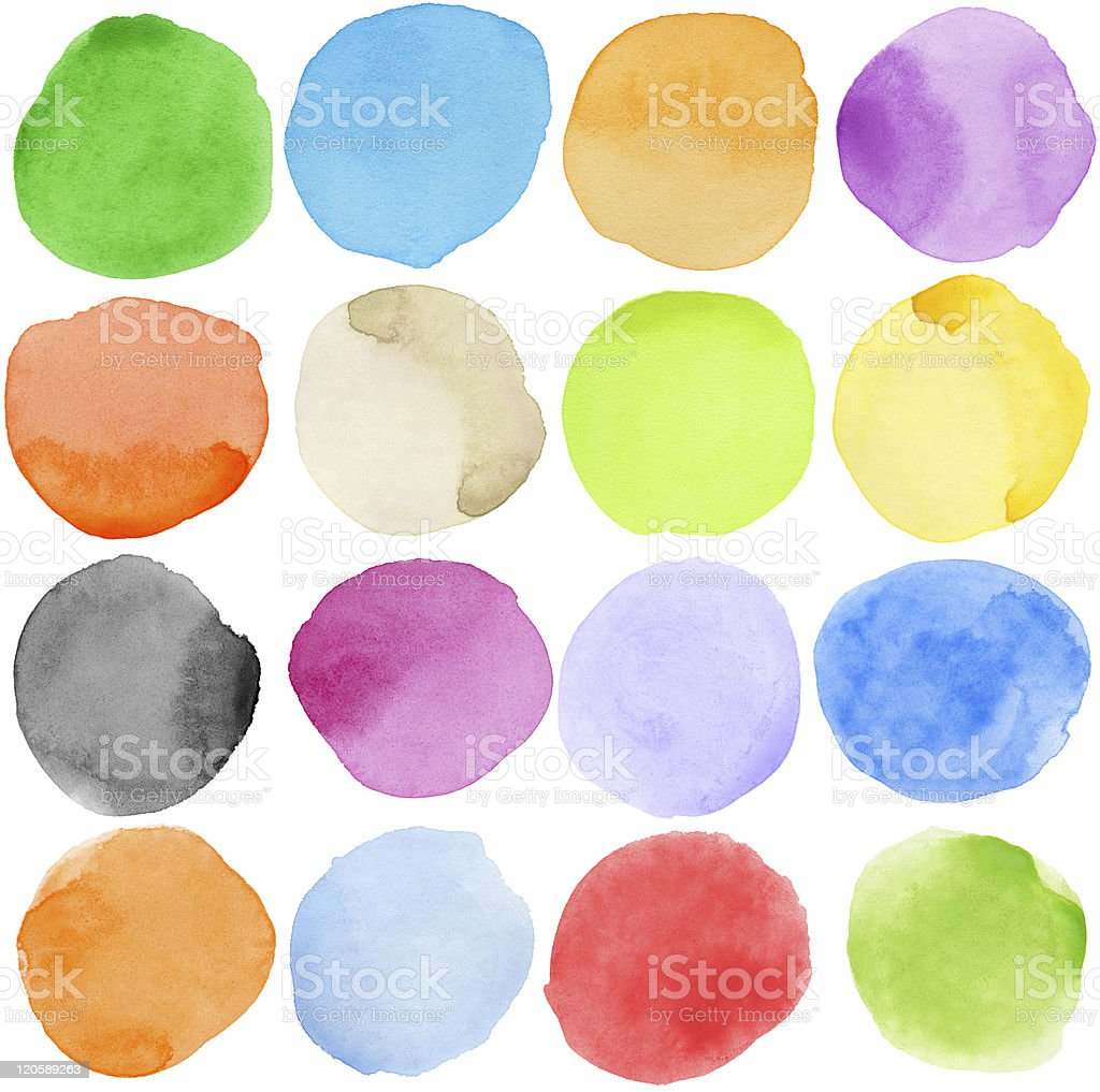 Watercolor elements stock photo