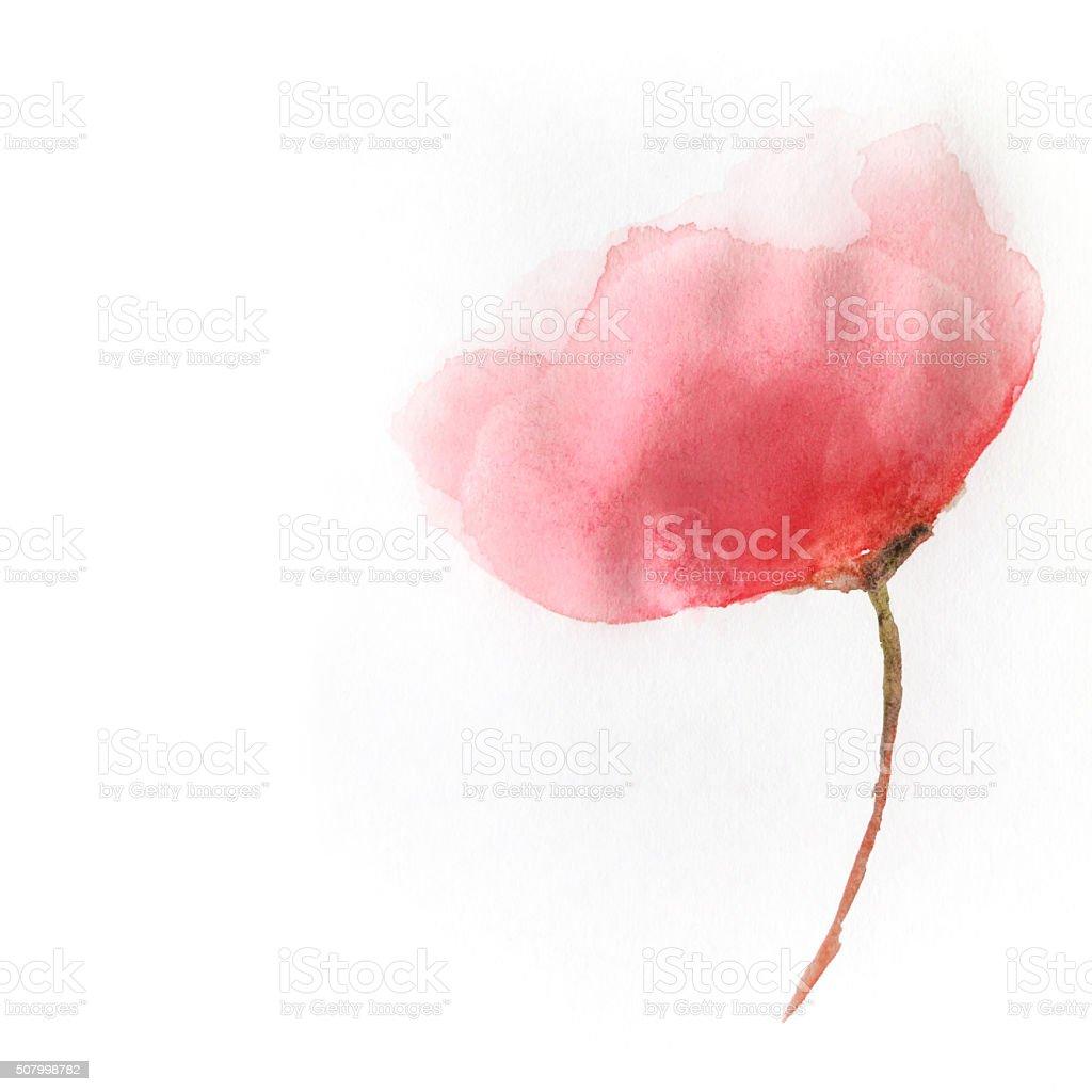 Watercolor flower. Illustration stock photo
