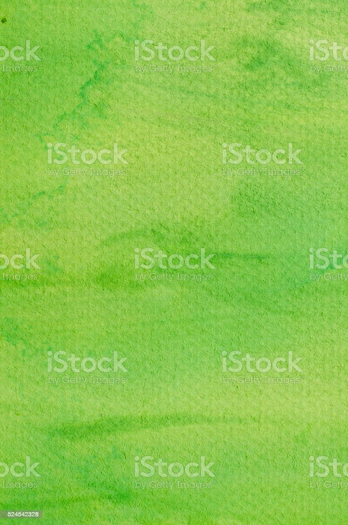 watercolor green painted background stock photo
