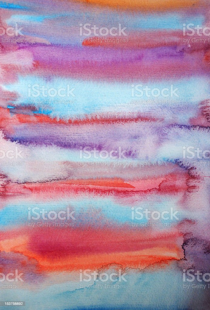 Watercolor hand painted art background for scrapbooking design stock photo