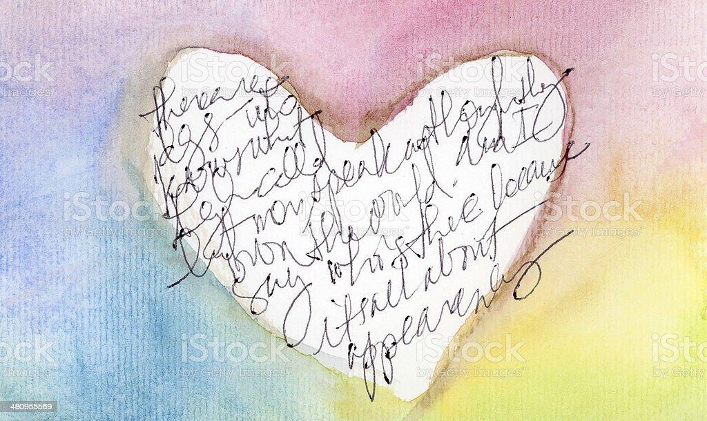 Watercolor heart royalty-free stock photo