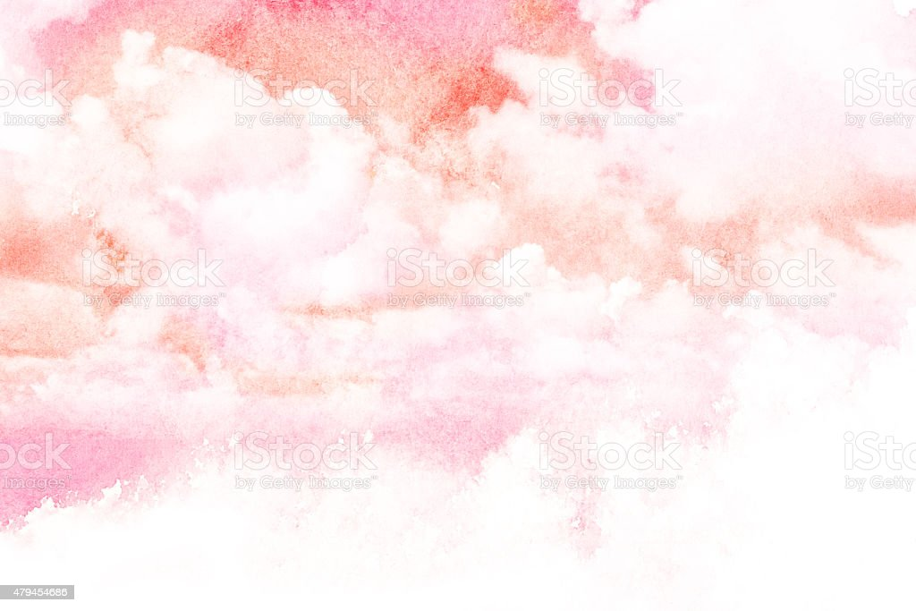 Watercolor illustration of cloud. vector art illustration