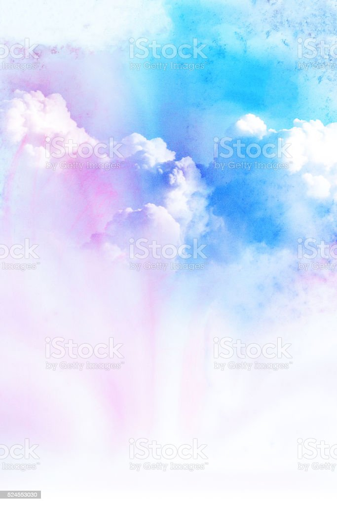 Watercolor illustration of cloud. stock photo