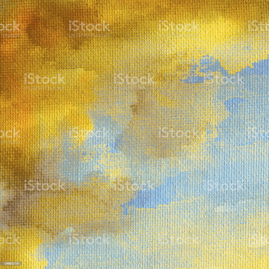Watercolor on canvas background royalty-free stock photo