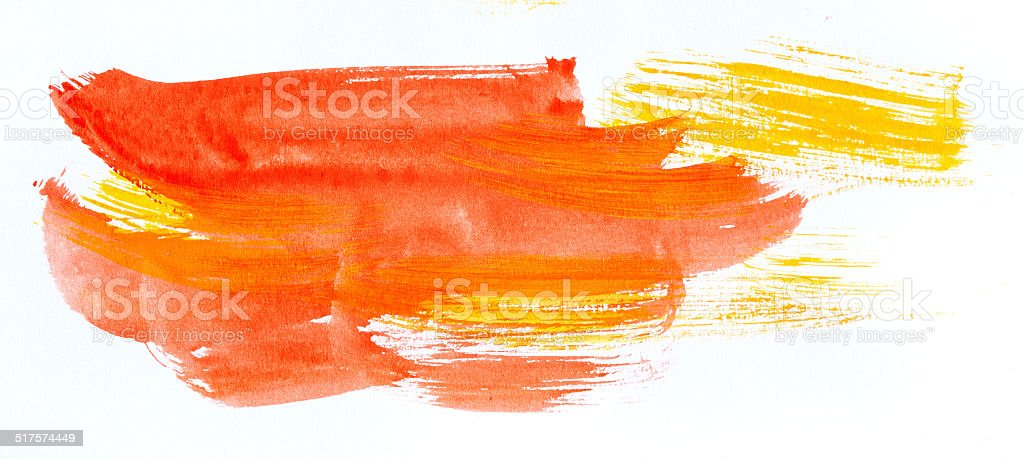 Watercolor paint strokes stock photo