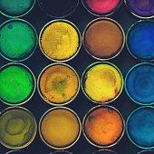 Watercolor paints.