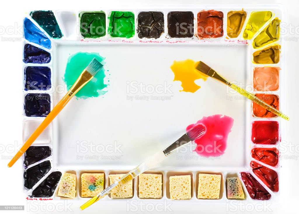 Watercolor Palette royalty-free stock photo