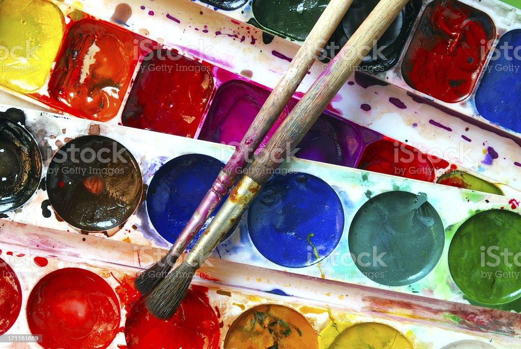Watercolor stock photo