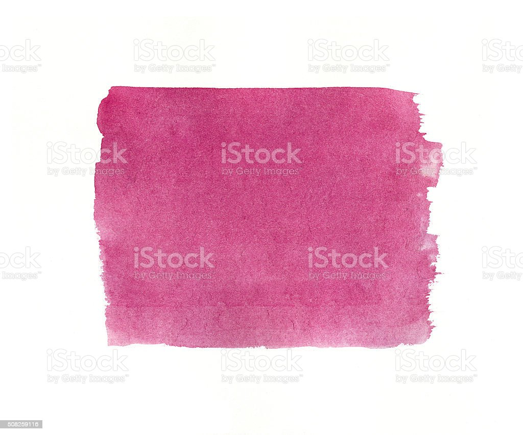 Watercolor pink  background isolated. stock photo