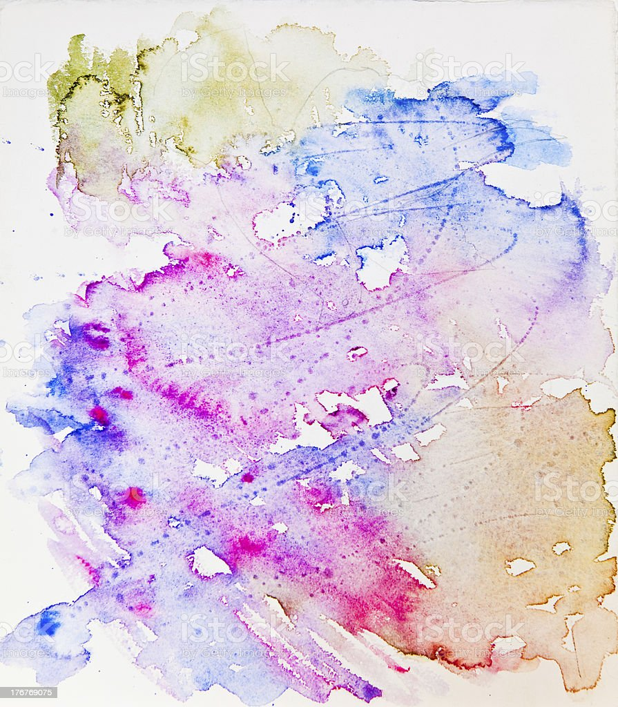 Watercolor Pour royalty-free stock photo